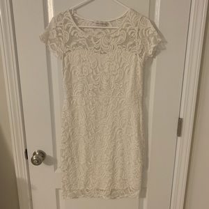 Cisono White Lace Dress